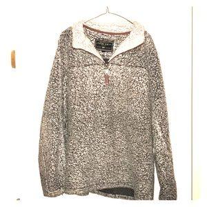 True grit grey pullover